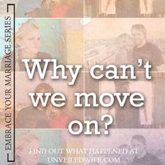 Why Can't We Move On? --- For the first three and a half years of our marriage, my husband and I could not experience intercourse. Pain radiated throughout my body every time we initiated or attempted sexual intimacy. I knew sex might be difficult to get use to in the beginning, s… Read More Here http://unveiledwife.com/cant-move/