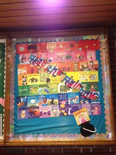 Read the Rainbow Library Bulletin Board march
