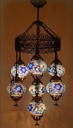 Turkish Mosaic Chandelier   --  Got this one in Turkey