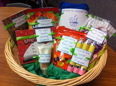 Welcome to the team teacher gift :)To cute... what a GREAT welcome basket for new teachers/staff