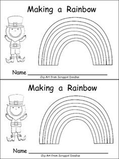 Ditch the ditto and this is a great idea for utr.  This emergent reader little book will help young students practice early reading skills, while reading about a fun subject: rainbows in honor of St. Patrick's Day!!     On each page, a new layer of the rainbow is added as the students help the leprechaun make a rainbow!!