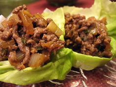 Asian Lettuce Wraps ... these are oh so good. I make a double batch  freeze. So easy to reheat!