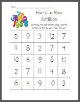 Here's a simple game for practicing basic addition facts.