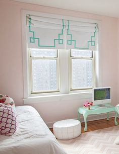 painted in Gentle Butterfly by Benjamin Moore, the perfect hue for any little girl's room.