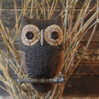 Primitive Folk Art Owl Ornie Pattern