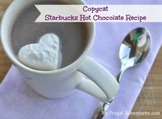 Quick & easy recipe to make rich, creamy Starbucks hot chocolate at home... Double this recipe and keep it in a crock pot for parties!
