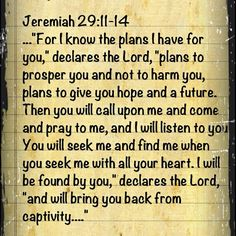 Love this bible verse ~Jeremiah 29:11-14