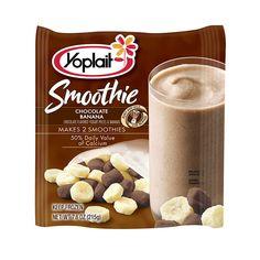 Yoplait Chocolate Banana Smoothie 1/2 cup---- 2 WW points