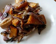 Roast Pumpkin and Red Onion with Rosemary