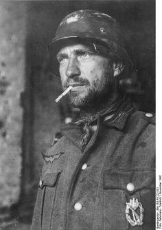 Battle of Stalingrad: German soldier with cigarette.