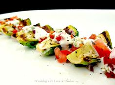 Yum... I'd Pinch That! | Grilled Brussel Sprout Wedge Salad