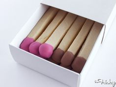 How cute and clever are these matchstick cookies?