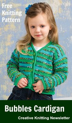 Free Bubbles Cardigan Knitting Pattern Download from Creative Knitting