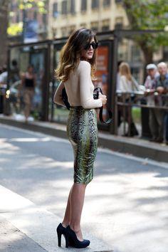 Long Pencil Skirt