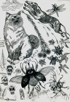 Deliver Me To Evil - Tattoo flash sheets created by Izabella Dawid...