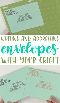 Today on the blog we're going to teach you exactly how to address your very own envelopes with your Cricut. Just think about how much time this would save when doing Christmas cards or wedding invitations or  anything of that sort. #cricut #diecutting  #diecuttingmachine #cricutmachine #cricutmaker #diycricut #cricutideas  #cutfiles #svgfiles #diecutfiles #diycricutprojects #cricutprojects  #cricutcraftideas #diycricutideas