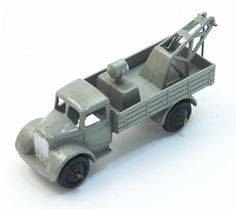 Dinky Toys Breakdown Car Pre-War - Grey - Black Wings - Black Hubs - Open Rear Window £100