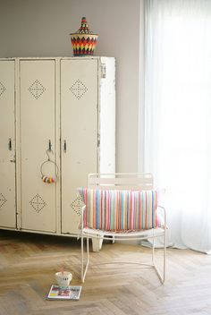 wood & wool stripes & harlequins pillow by wood & wool stool, via Flickr