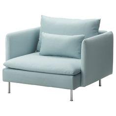 SÖDERHAMN Chair - Isefall light turquoise - IKEA