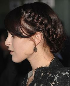 runway hair, brunette beauty, braid crumb, braids, alexander wang
