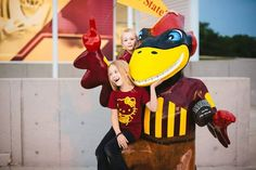 Look at this picture with one of the many Cy statue's spread around Ames, want to get a picture with this one? come to the Bergstrom football complex before heading into the game 11/1 vs OU #LoyalForeverTrue