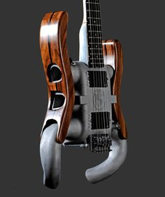 The Electric Beamer II from AM Guitars. This guitar is made out of recycled parts, mostly a BMW's engine intake manifold. #oneofakind #guitar #music #unique