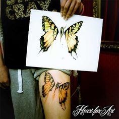 butterfly tattoo Heart for Art - Tattoo Shop