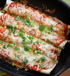 Cheesy Zucchini Enchiladas!!! A great meal whether you're vegetarian or not!! |skinnytaste.com