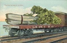 """J. Herman's work appeared under his name or as """"Series 85,"""" and was mostly published by the Midland (New York) Publishing Company around 1912-1913. Herman produced only a few cards, mostly images of produce on railroad cars and fishing themes."""