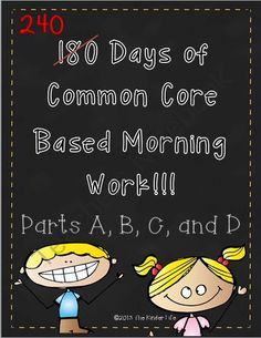 A Whole Year of Differentiated Morning Work! Enter for your chance to win 1 of 2.  240 Days of Morning Work: A Complete Year- Kindergarten or 1st Grade (240 pages) from TheKinderLife on TeachersNotebook.com (Ends on on 9-5-2014)  This pack is perfect for a kindergarten or 1st grade classroom! In addition, if you purchase any item from my store before 9/5/14 you can pick any other product (of equal or lesser value) for FREE. BOGO SALE continues until Friday. Message me for any questions or to ...