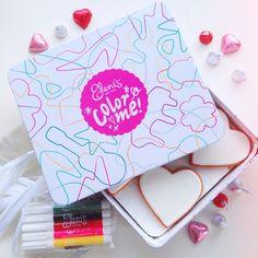 The cutest Valentine's! Eleni's Color Me! Hearts DIY Valentine's cookies