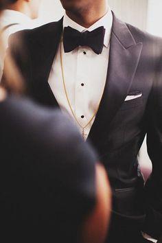 brides of adelaide magazine - black and white - formal black tie - wedding
