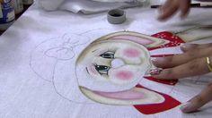 COELHA Gi mara video de, de pintura, pintura em, em tecido, peintur tutoriel