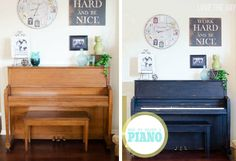 My Painted Piano with FolkArt Home Decor Chalk - Furniture makeover painted with FolkArt Home Decor Chalk - click thru for the full how to #plaidcrafts #folkartpaint