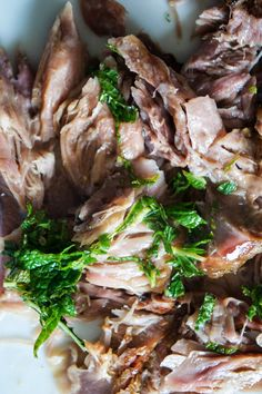 Slow-Cooked Lamb Shanks with Paleo Mint Sauce