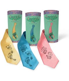 DADDY'S TIE   Personalized Baby Footprint & Handprint Ties   UncommonGoods