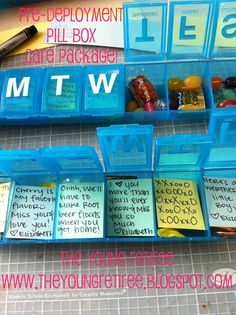 Pill Box filled with candy and notes