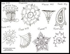 How to Draw Flower Index 13 to 20