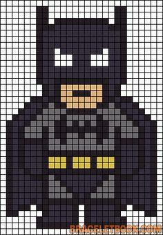 Batman perler bead pattern-could also work for a quilt pattern :) | best stuff