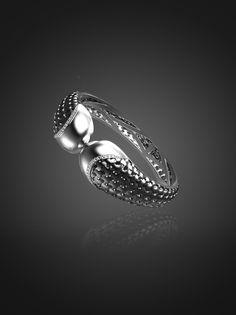 Sterling Silver diamond cuff