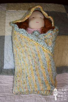 Knit Swaddle | Wee Folk Art