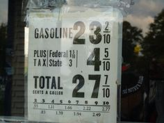 Gasoline back when