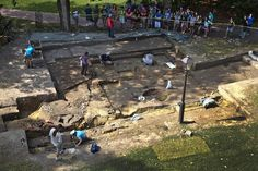 Even in a town that archaeologists have probed countless times since 1930, few places have been dug over as many times as the landmark compound that makes up the historic colonial campus at the College of William and Mary. Here's the latest from the Wren Building dig. -- Mark St. John Erickson