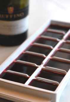 wine ice cubes - good idea for leftover wine