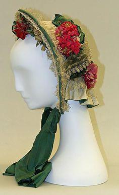 Bonnet, 1860, silk