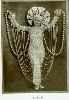 vintage beauty, costumes, pari, pearls, foli berger, ert, costume design, costum inspir, burlesqu