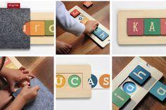 Gorgeous custom name blocks for kids - fabulous birthday gift