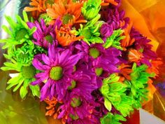 Electric Neon Flowers