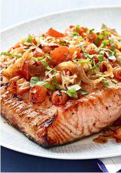 grill bruschetta, chopped tomato recipes, chop tomato, salmon bruschetta, perfectly grilled salmon, grill salmon, healthy living recipes, grilled bruschetta salmon, perfect grill