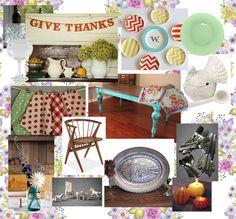 Vintage Thanksgiving Table mood board